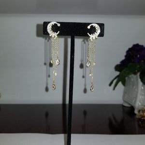 Jewelry - Vermeil gold plated sterling silver moon  earrings